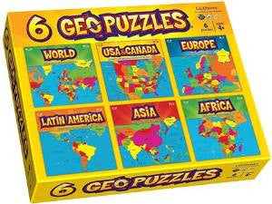 GeoToys 6 Geopuzzles - One Box