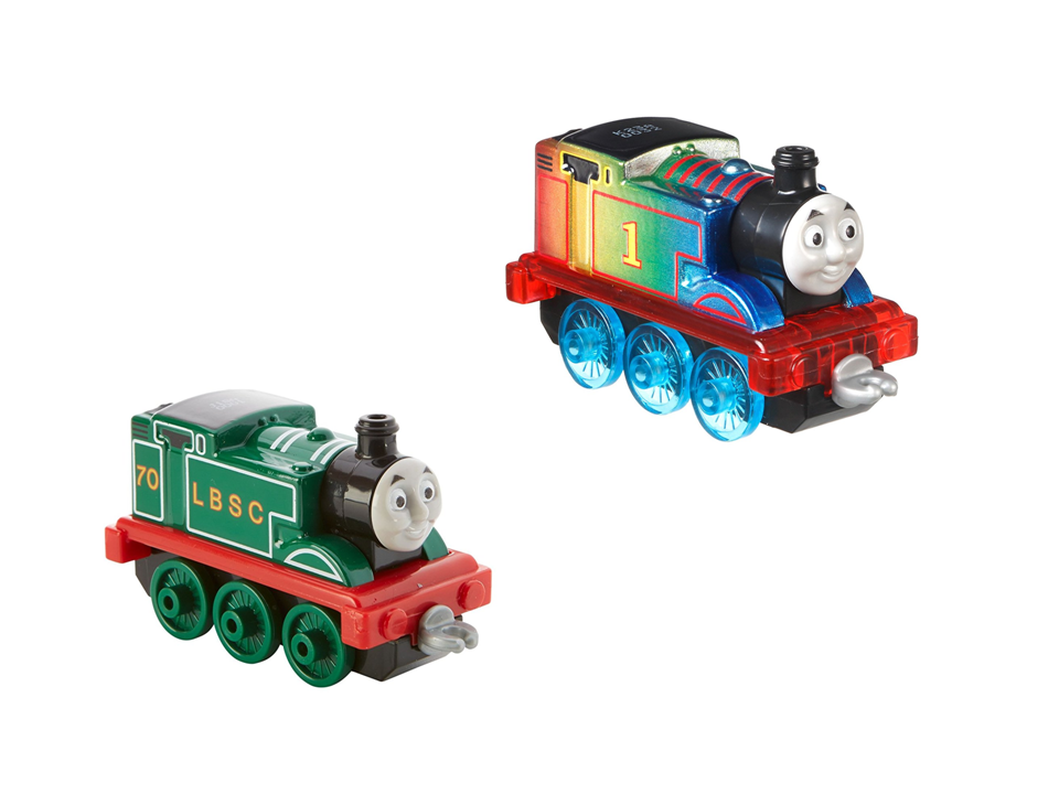 2 Items Bundle: Special Edition Trains - Rainbow Thomas & Original Thomas Trains