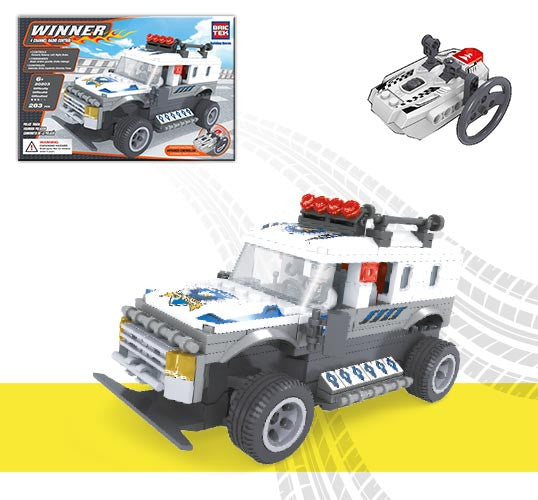 Brictek Building Blocks - 4 Channel Radio Control Police Truck 20203