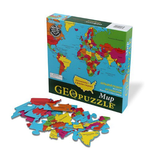 GeoToys Geopuzzle World (Russian)
