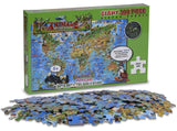 GeoToys Dino'S Animal World Map - 300 Pc Jigsaw Puzzle