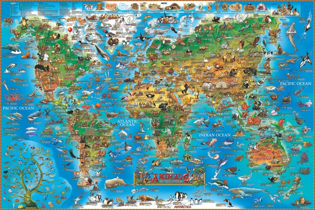 Geotoys dinos animal world map 300 pc jigsaw puzzle you are geotoys dinos animal world map 300 pc jigsaw puzzle gumiabroncs Images