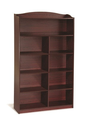 Guidecraft Classroom Furniture - 6 Shelf Bookshelf Cherry G6337