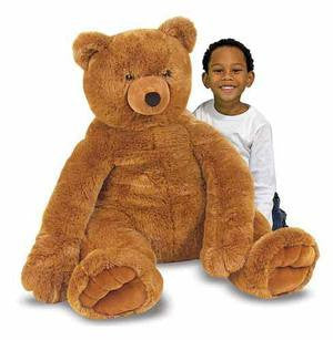 Melissa & Doug Jumbo Brown Teddy Bear 2138