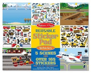 Melissa & Doug Reusable Sticker Pad - Vehicles 4199