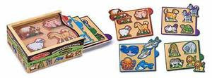Melissa & Doug Animals Mini-Puzzle Pack 4790