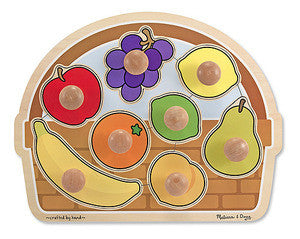 Melissa & Doug Fruit Basket - Large Jumbo Knob 3394