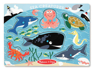 Melissa & Doug Sea Creatures Peg Puzzle 9055