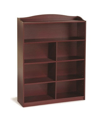 Guidecraft Classroom Furniture - 5 Shelf Bookshelf Cherry G6336