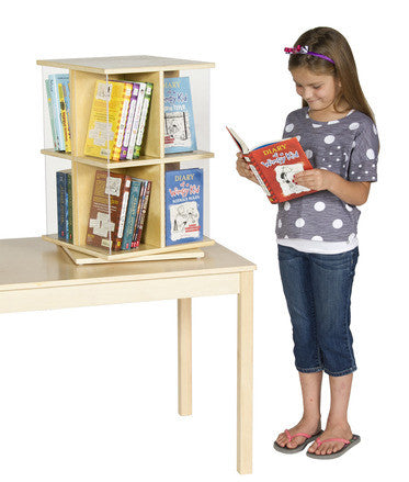 Guidecraft Classroom Furniture - Rotating Book Display 2 Tier G6317