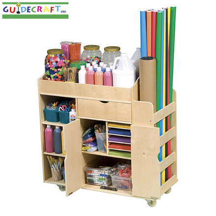 Guidecraft Classroom Furniture - Art Activity Cart G98202-1