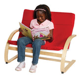 Guidecraft Classroom Furniture - Nordic Couch Red G6451