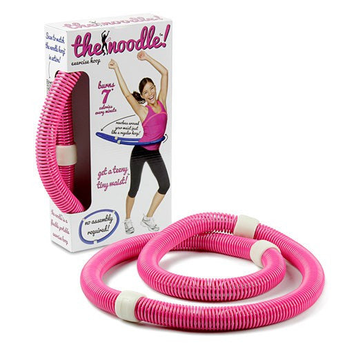 Viahart Noodle Portable Flexible Exercise Spring Hula Hoop - Pink