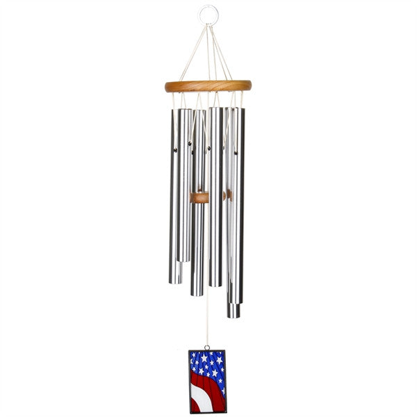Woodstock Star-Spangled Banner Chime - Stained Glass USAS