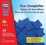 Brictek Baseplates 17 assorted - blue 19014
