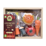 Woody Puddy Sets - American Food Set U05-0011 by Woody Puddy