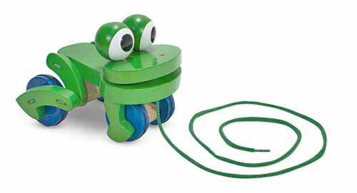 Melissa & Doug Frolicking Frog Pull Toy 3021