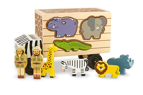 Melissa & Doug Animal Rescue Shape-Sorting Truck 5180