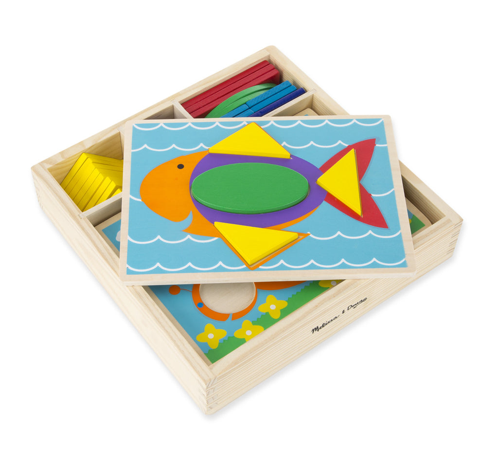 Melissa & Doug Beginner Pattern Blocks 528