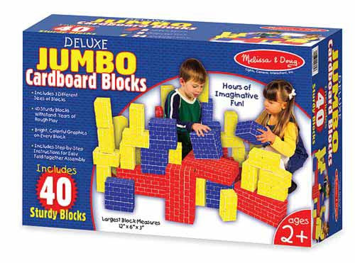 Melissa & Doug Deluxe Jumbo Cardboard Blocks (40 pc) 2784