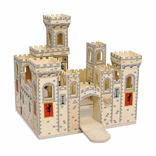 Melissa & Doug Classic Toys Play Sets Folding Medieval Castle 1329