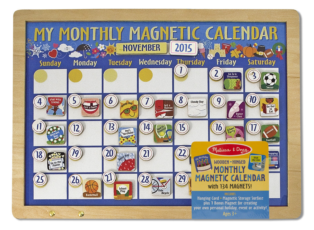Melissa & Doug My Monthly Magnetic Calendar 3788