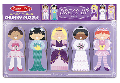 Melissa & Doug Mix-Match-Stack Chunky Puzzle-Dress Up