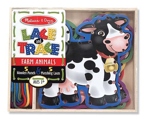 Melissa & Doug Farm Animals Lace and Trace Panels 3781