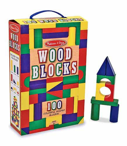 Melissa & Doug 100 Wood Blocks Set 481