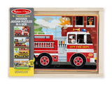 Melissa & Doug Vehicle Puzzles in a Box 3794