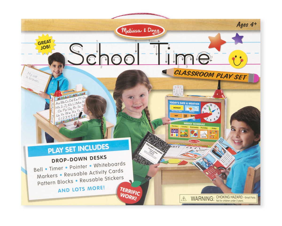 Melissa & Doug School Time! Classroom Play Set 8514