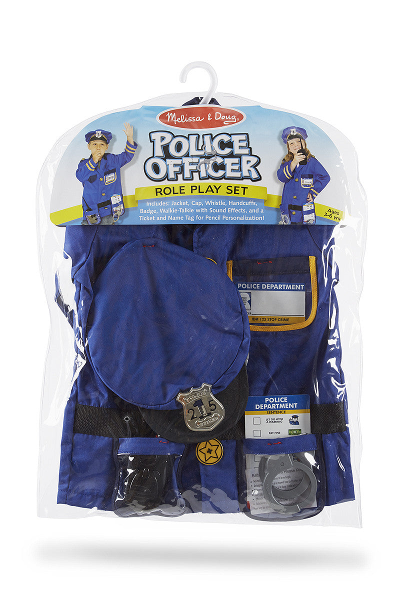 Melissa & Doug Police Officer Role Play Costume Set 4835
