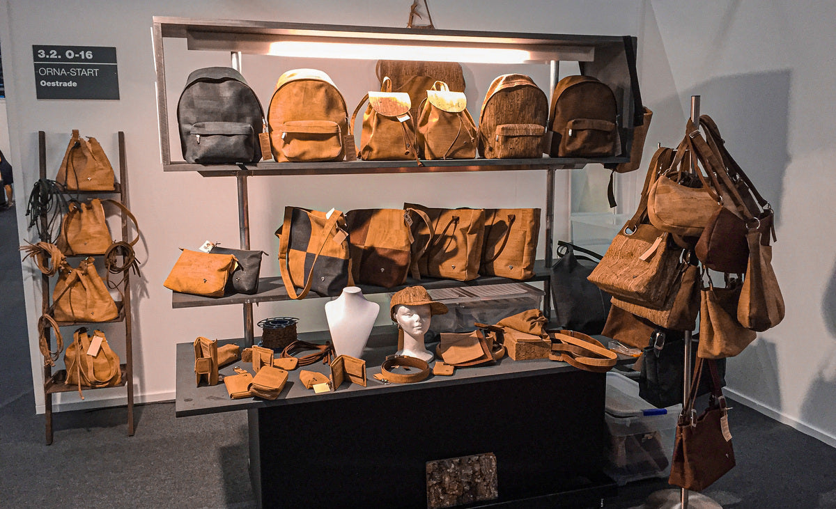 Exhibition with Cork Backpacks Handbags and Accessories