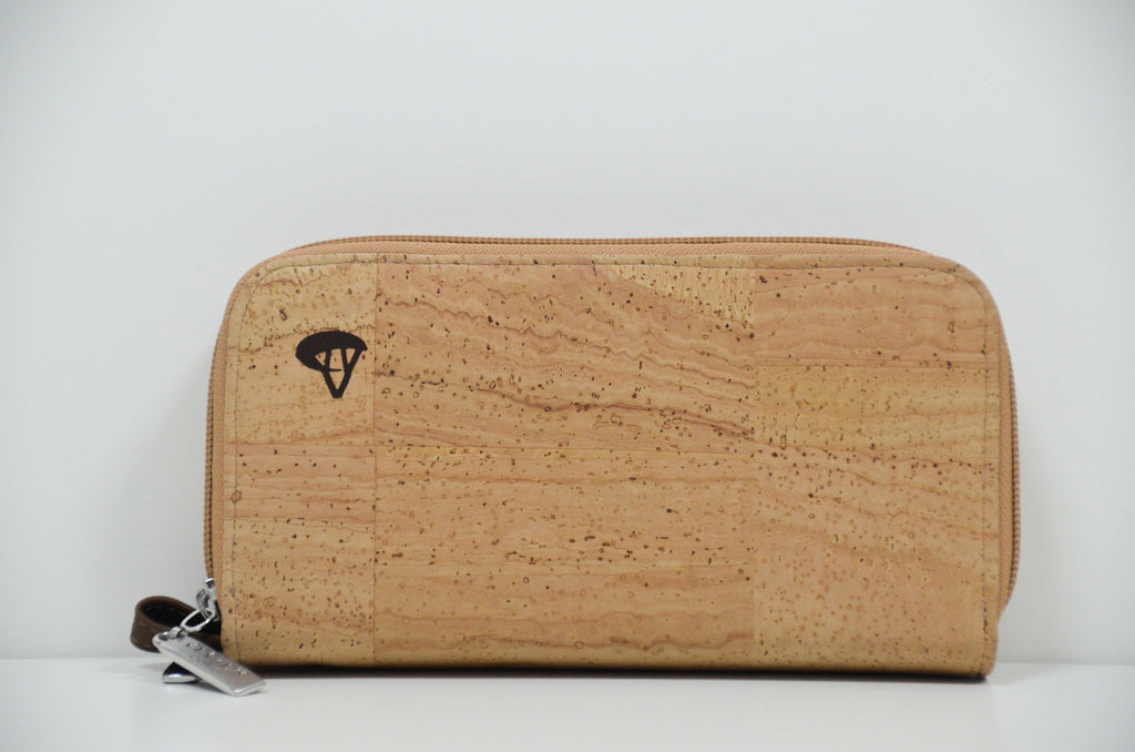 Natural Cork Wallet Aster - CESARSCORK