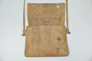 Stripes Crossbody Cork Bag Dahlia - CESARSCORK