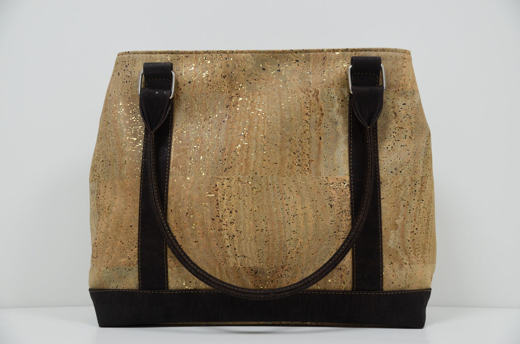 Beige Cork Handbag Germania - CESARSCORK