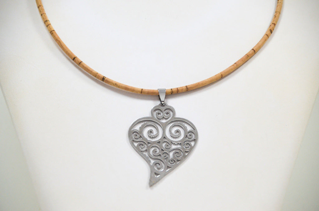Cork Heart of Viana Necklace Fashionable - CESARSCORK