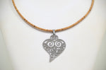Load image into Gallery viewer, Cork Heart of Viana Necklace Fashionable - CESARSCORK