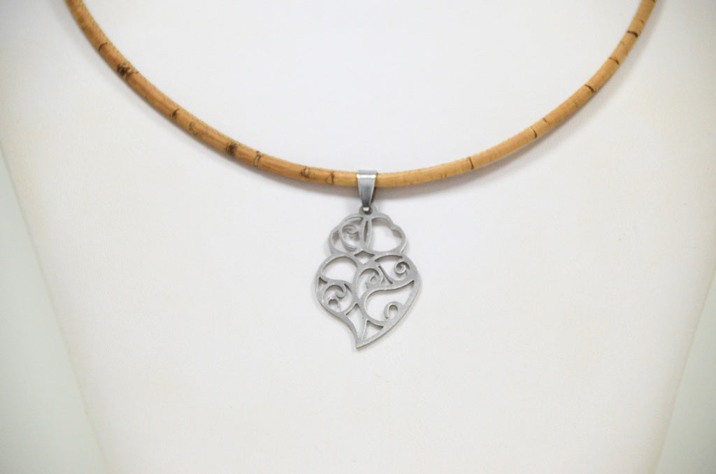 Cork Heart of Viana Necklace Graceful - CESARSCORK