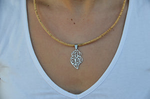 Cork Heart of Viana Necklace Slim - CESARSCORK