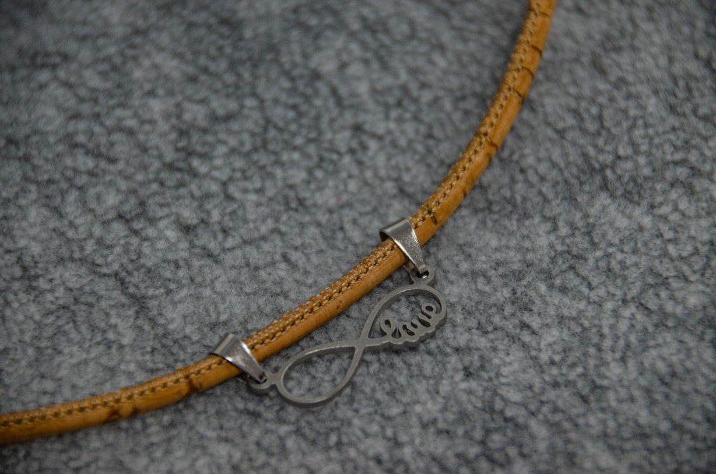 Infinite Symbol Love Cork Necklace