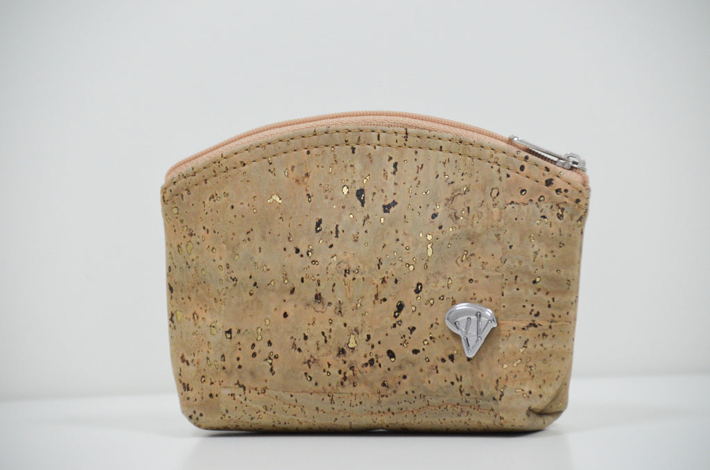 Beige Cork Purse Monda - CESARSCORK