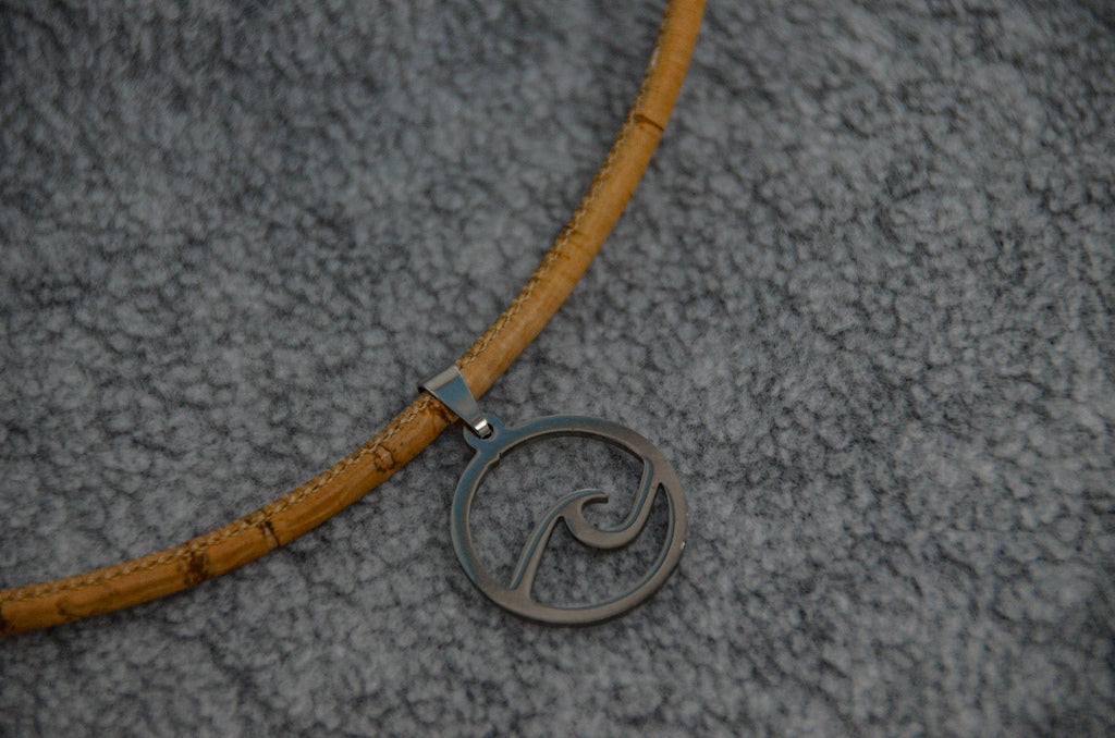 Ocean Wave Cork Necklace