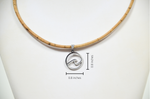 Load image into Gallery viewer, Ocean Wave Cork Necklace