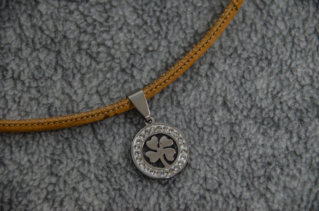 Sparkling Clover Cork Necklace