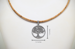 Laden Sie das Bild in den Galerie-Viewer, Tree of Life Cork Necklace