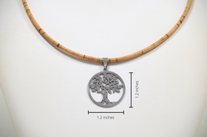 Tree of Life Cork Necklace
