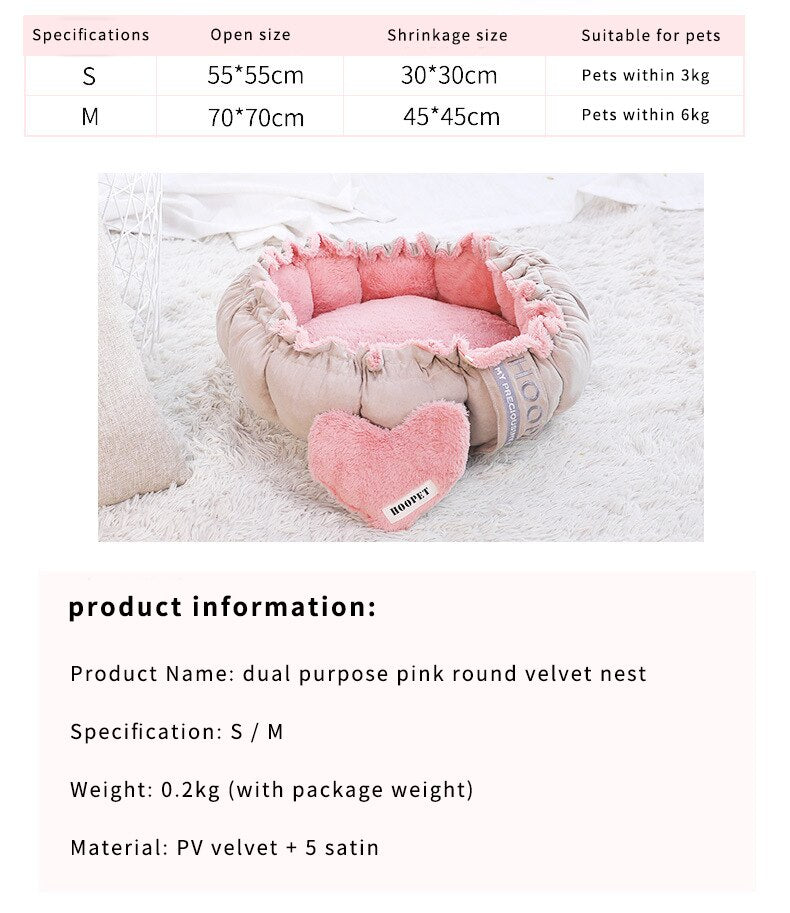 Pet Cat Dog Bed Winter Warm House Non-slip,Bottom Soft Puppy Cushion Pet Sleeping Kennel Portable Sofa Mat for Dogs Cat Supplies, Removable Pets Cat House, at Sleeping Bag Soft Cozy Kennel Fluffy Sofa Blanket Mat for Small Large Dogs Cats Pet Supplies,iBuyXi.com