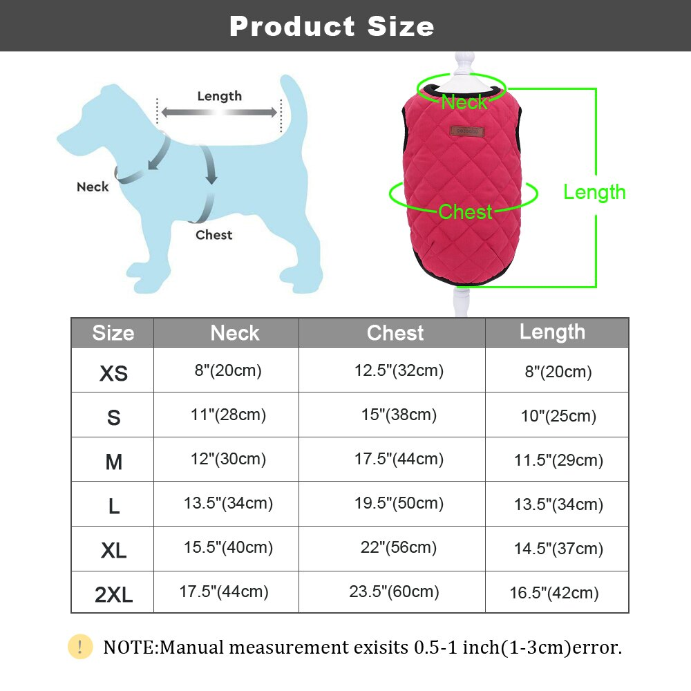 Cat Dog Clothes, Chihuahua Kitten Clothes, Outfit Dog Jacket Vest Winter Clothes, Pet Puppy Coat Clothing for Small Medium Cat Dogs, iBuyXi.com