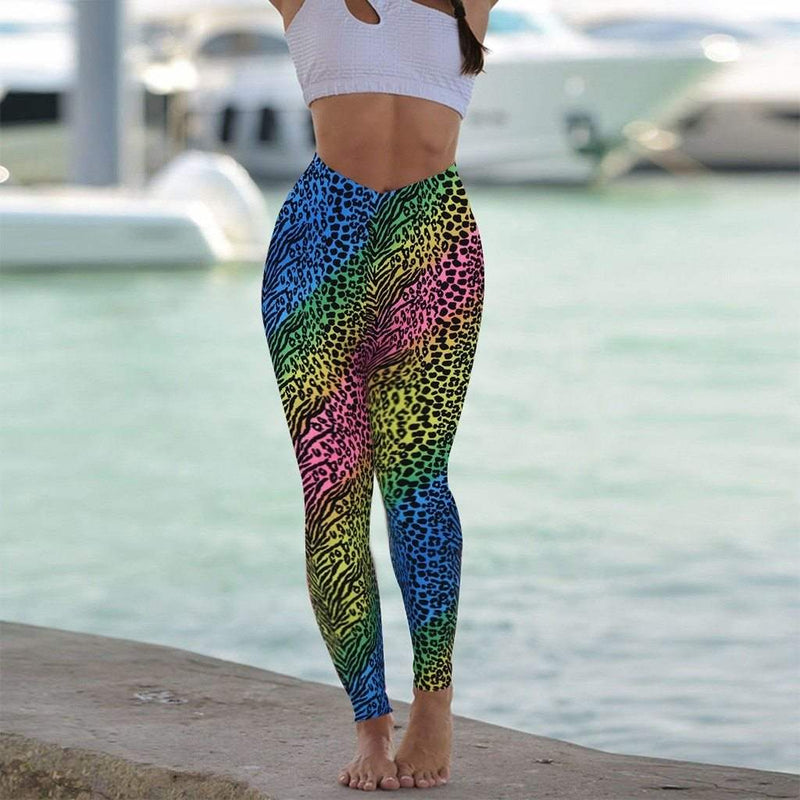 Leopard Yoga Pants, iBuyXi.com, Yoga pants, workout pants, fitness outfits
